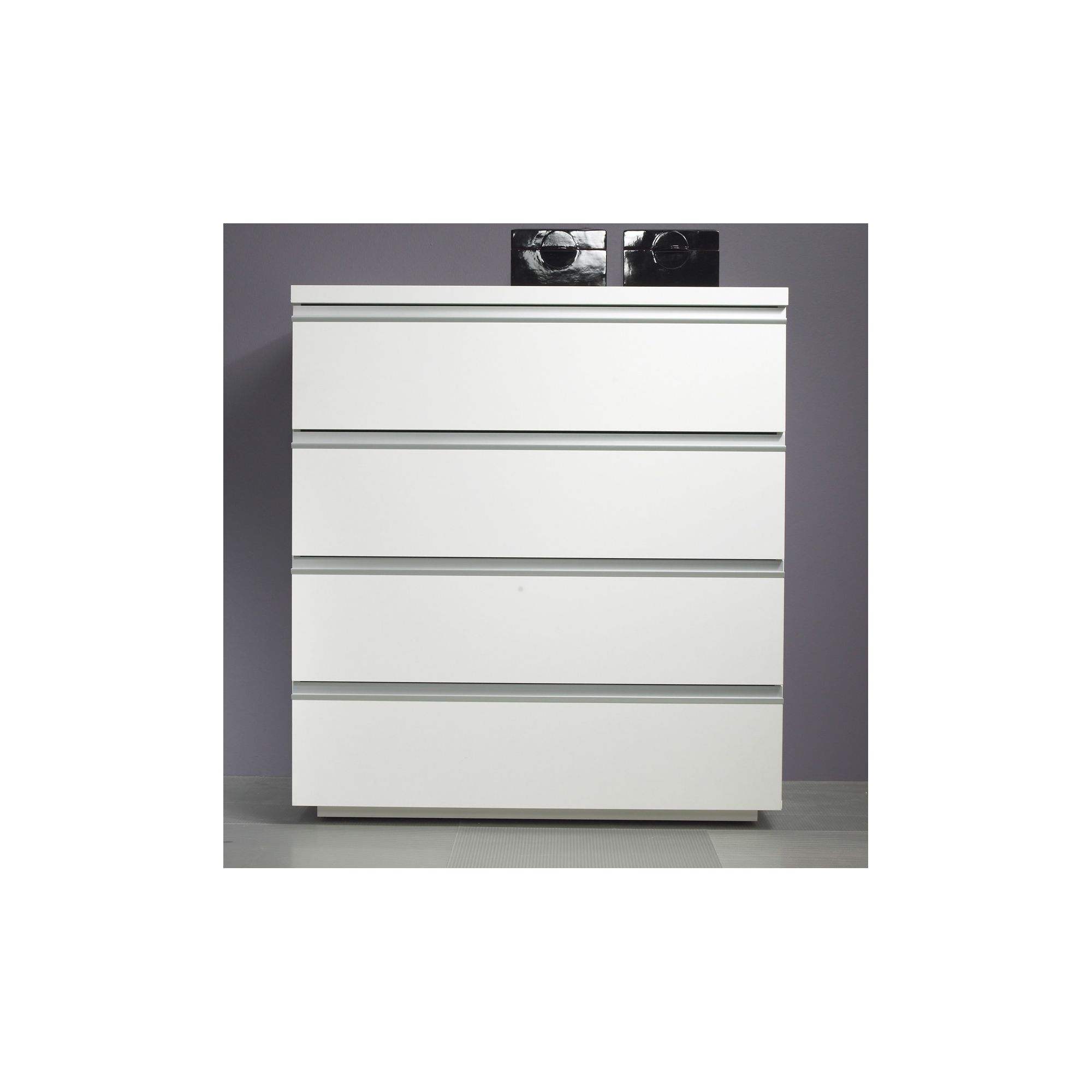 Tvilum Milano Four Drawer Chest in White at Tesco Direct