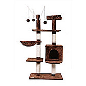 Confidence Pet Exective Cat Kitten Tree Scratch Post Activity Centre Brown