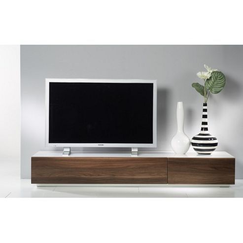 Tvilum Monaco Combination 44 Wooden TV Stand - White / Dark Walnut