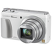 "Panasonic Lumix DMC-TZ55  Digital Camera, White, 16 MP, 20x Optical Zoom, 3"" LCD Screen, Wi-Fi"