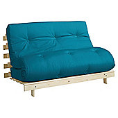 Helsinki Pine Double Futon With Mattress Teal