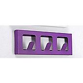 Hispanohogar Wall Coat Rack - Violet