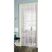 Country Club Single String Door Curtain 90 x 200cm, White