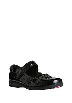 F&F Butterfly Light-Up Patent School Shoes - Black