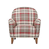 Lausanne Armchair Check Red