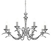 Endon Lighting Eight Light Pendant - Polished Chrome
