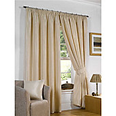 Venice Pencil Pleat Curtains 168 x 229cm - Silk