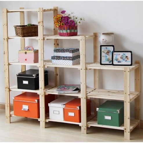 Techstyle Four Tier Stepped Storage Shelf