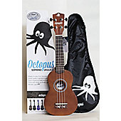 Octopus Soprano Ukulele Outfit White With Gig Bag
