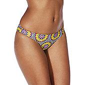 South Beach Mixed Print Narrow Bikini Briefs - Multi
