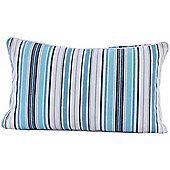 Homescapes Cotton New England Stripe Scatter Cushion, 30 x 50 cm
