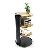 Atacama Helix Black and Bamboo 3 Shelf Hifi Stand