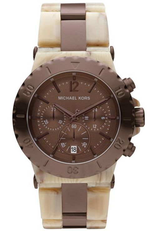 Michael Kors Ladies Chronograph Plastic Strap Watch MK5596