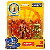 Imaginext DC Super Friends Figures Scarecrow & Poison Ivy