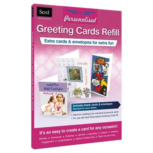 Serif Greeting Card Refill 4x A6 4x A5 & 4x DL cards Matt & Gloss Inc env