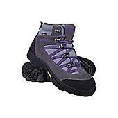 Edinburgh Vibram Kids Childrens Boys Girls Waterproof Walking Boots Shoes - Grey
