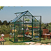 Palram Harmony 6x4 - Green Greenhouse - Polycarbonate and Aluminium Frame