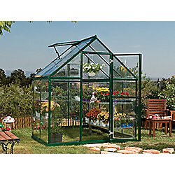 Palram Harmony 6x4 - Green Greenhouse - Polycarbonate and Aluminium Frame