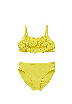 F&F Laser Cut Bikini Set - Yellow