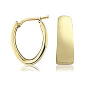 9ct Yellow Gold Polished Huggie-styles Earring