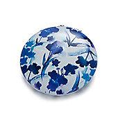 Blue Flower and Bird Compact Mirror