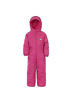 Trespass Kids DripDrop All In One Padded Waterproof Rain Suit - Pink