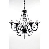 Globen Lighting Wire Six Light Pendant - Black
