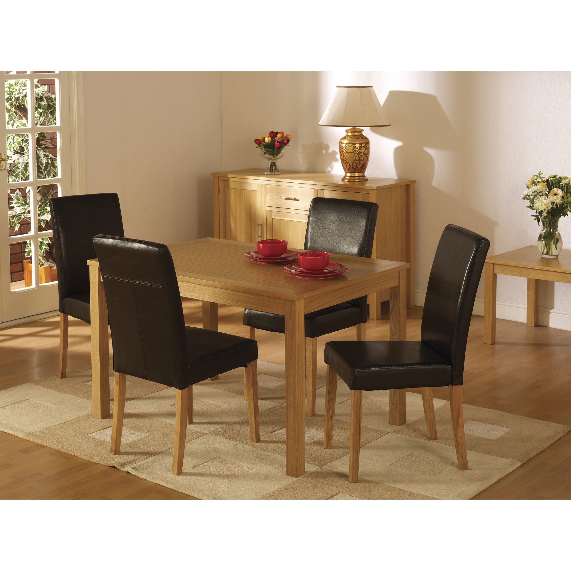 Home Essence Oakmere 5 Piece Dining Set - Espresso Brown