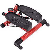 Homcom Mini Stepper Legs Arms Workout Fitness-Red/Black
