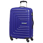 American Tourister Sunset Square 4-Wheel Hard Shell Blue Large Suitcase