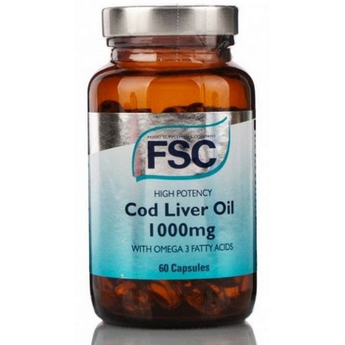 Fsc High Potency Cod Liver Oil 1000Mg 30 Capsules