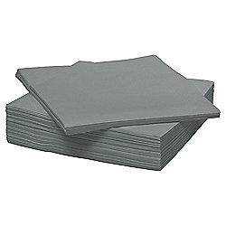 Tesco Silver Napkins, 33cm, 25 Pack