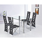 G&P Furniture 5 Piece Garda Rectangular Dining Set - Ivory