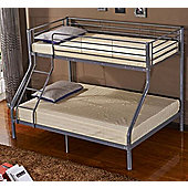 Nevada Metal Triple Bunk Bed Silver Grey