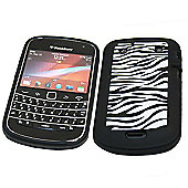 SoftSkin Skin Case for BlackBerry 9900 Bold Touch - Black Zebra