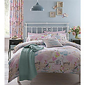 Catherine Lansfield Vintage Collage Single Bed Cotton Rich Quilt Set Multi