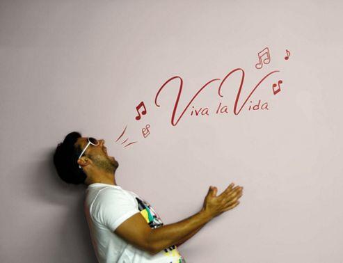 Komar Viva la vida Wall Tattoo - 70 x 100 cm