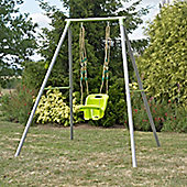TP Metal Single Swing Frame with Early Fun & Lime Green Swing Seat