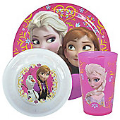 Disney Frozen Else and Anna Melamine Dinner Set, 3-Piece