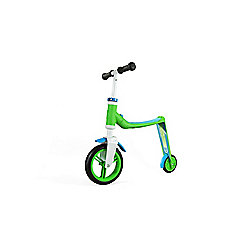 Scoot & Ride Highwaybaby 2-in-1 Scooter & Balance Bike, Green/Blue