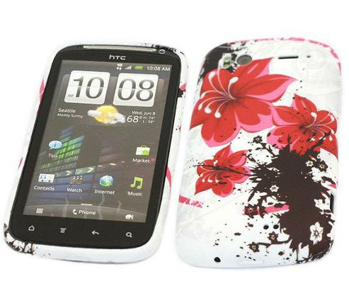 iTALKonline ProGel Printed Oriental Flowers Skin Case - For  HTC Sensation