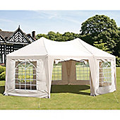6.8m x 5m Octagonal Marquee Gazebo with Side Walls