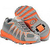 Heelys Sonar Orange/Grey/Silver Heely Shoe - Orange