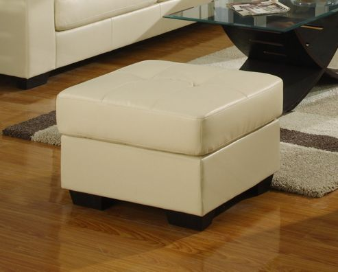 Furniture Link Gemona Footstool in Ivory