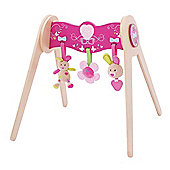 Bigjigs Toys BB509 Bella Wooden Baby Gym With Soft Plush Toys