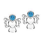 Jo For Girls December Birthstone Guardian Angel Stud Earrings