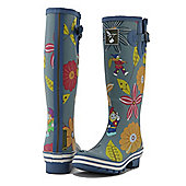 Evercreatures Ladies Dahlia Funky Wellies Garden Pattern 3