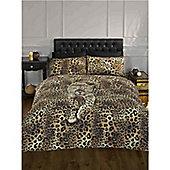 Rapport Serengeti Prowling Leopard Quilt Set Single Multi Coloured