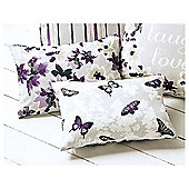 Dreams n Drapes Sakura Mauve Cushion Cover - 28x38cm