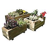Zest 4 Leisure Gresford Rectangular Planter (Set of 3)